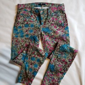 7 For All Mankind Ankle Skinny Floral Jeans (27)